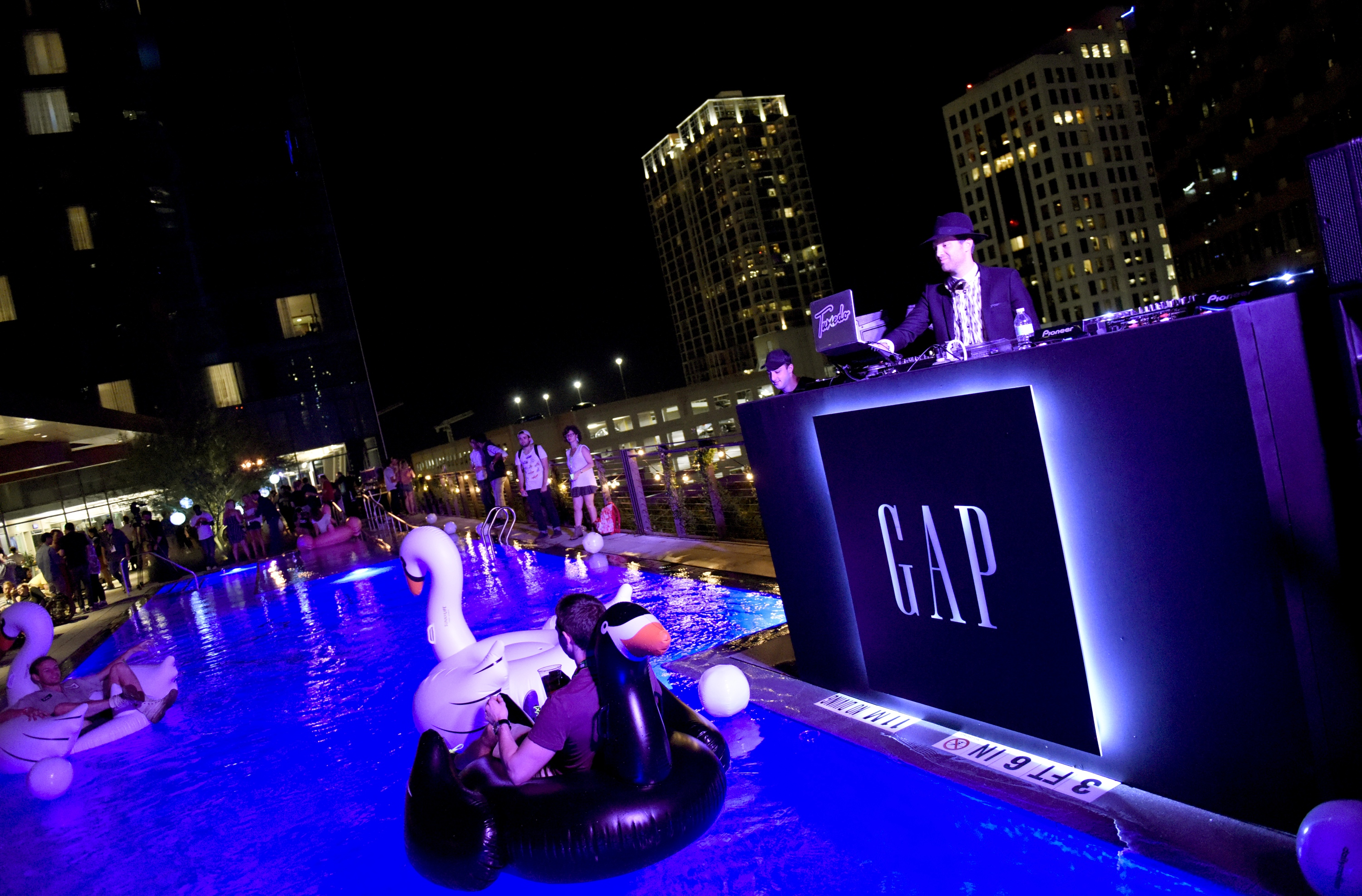 AUSTIN, TX - MARCH 15:  DJ Mayer Hawthorne spins at Music Is Universal Poolside DJ Bash, presented by Marriott Rewards and Universal Music Group, during SXSW at the JW Marriott Austin on March 15, 2016 in Austin, Texas.  (Photo by Vivien Killilea/Getty Images for Universal Music Group)